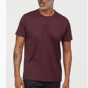 H and M burgundy short sleeved T-shirt